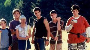 Rory Culkin, Trevor Morgan, Carly Schroeder, Scott Mechlowicz, Ryan Kelley and Josh Peck in Mean Creek (Paramount Classics)