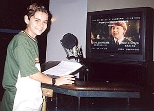 Charles Emmanuel in the studio for Harry Potter and the Sorcerer's Stone (Charles Emmanuel/Warner Bros.)
