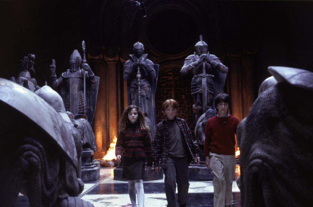 Emma Watson, Rupert Grint and Daniel Radcliffe in Harry Potter and the Sorcerer's Stone (Warner Bros.)