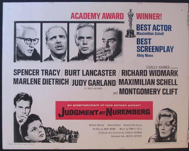 Judgment and Nuremberg (1961, United Artists)