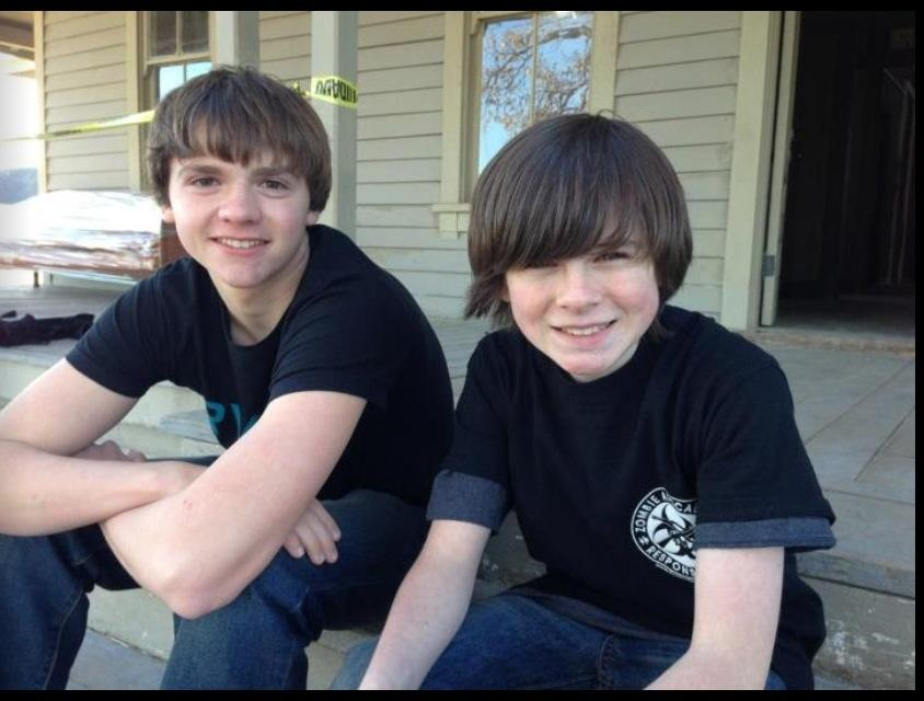 Joel Courtney and Chandler Riggs (Joel Courtney/Twitter)