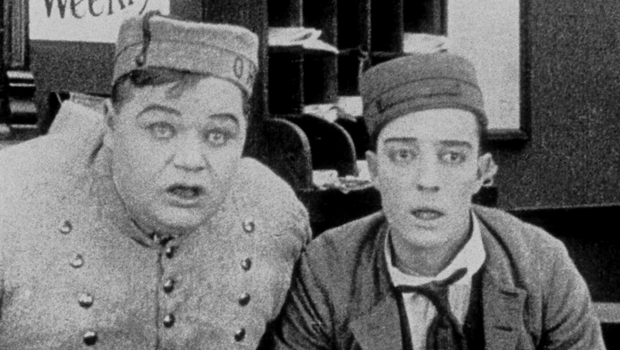 Fatty Arbuckle and Buster Keaton