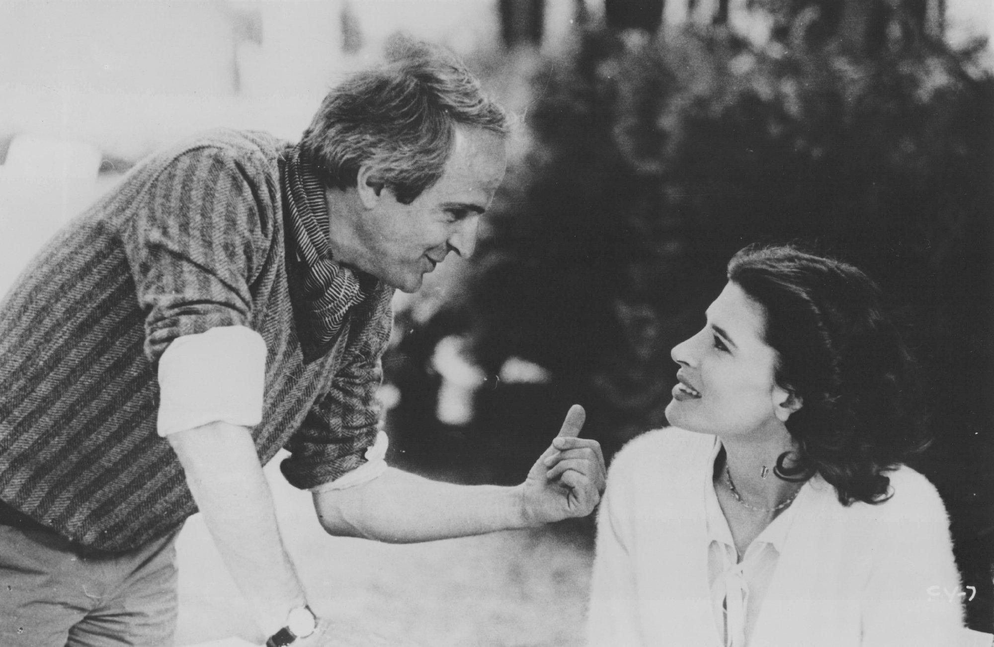 Francois Truffaut on the set of Confidentially Yours (1983, Le Films du Carrosse)