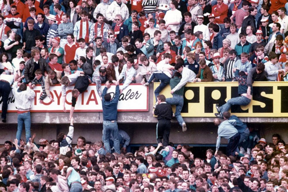 Scenes at Hillsborough FA Cup Semi Final match Liverpool v Notts Forest 15th April 1989 (Mirror)