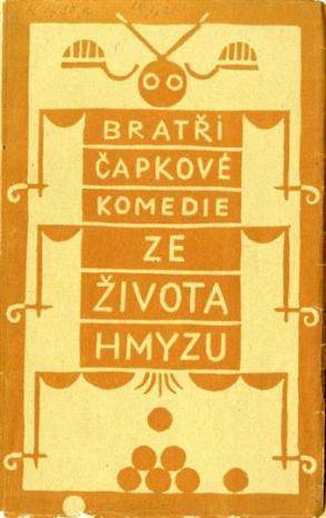 josef_Čapek_-_karel_Čapek,_ze_života_hmyzu_(obálka_knihy,_1921)